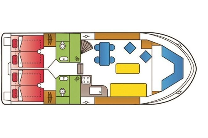 De Drait Safari Houseboat 1200 | Holidaytime