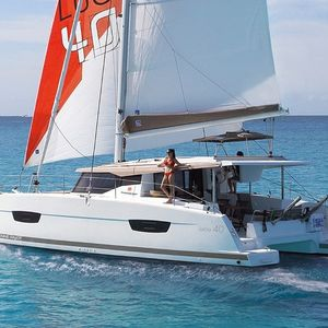 Fountaine Pajot Lucia 40   Running Higher
