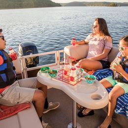 Sun Tracker Party Barge 22 DLX   Gaya